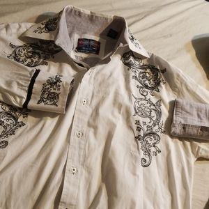EUC English Laundry Embroidered Dress Shirt